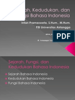 1 Perkembangan Bahasa Indonesia