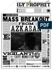 Daily Prophet Azkaban Escape