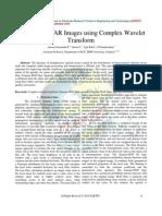 Despeckling SAR Images using Complex Wavelet Transform