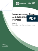 WB - Innovations in Agri Finance