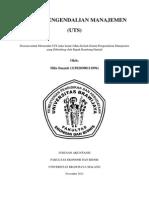 Sistem Pengendalian Manajemen UTS