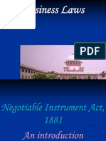 D - Negotiable Instrument- Old