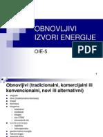 Obnovljivi Izvori Energije Predavanje 5