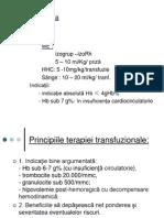 Terapia transfuzionala