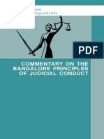 COMMENTARY ON THE BANGALORE PRINCIPLES OF JUDICIAL CONDUCT