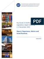 Key Issues in Drafting Anti-Torture Legislation, Expert Meeting 2-3 November 2012 Report