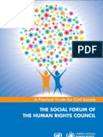THE SOCIAL FORUM OFTHE HUMAN RIGHTS COUNCIL