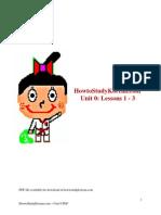 HowtoStudyKorean.com Unit 0 PDF