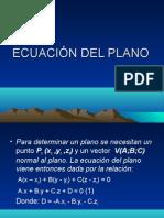 ECUACIÓN DEL PLANO