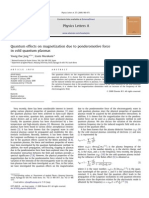 Quantum Effects on Magnetization Due to Ponderomotive Force