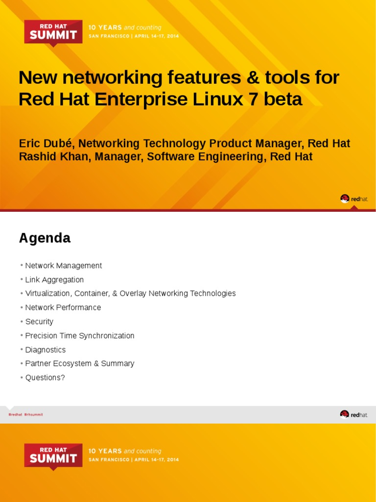 New Networking Features Tools for Red Hat Enterprise Linux 7