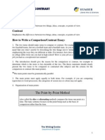 compare and contrast essay how to