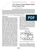 Analysis of Dclink Z Source Control Based Hybrid Active Power Filter