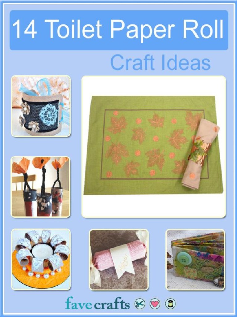 14 Toilet Paper Roll Craft Ideas.pdf | Adhesive | Paint