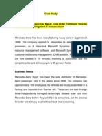 MTB Case Study - M Benz Egypt