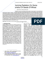 Effect of Ionizing Radiation on Some Characteristics of Seeds of Wheat