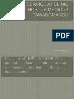 Service at Clinic Herbal Hortus Medicus Tawangmangu