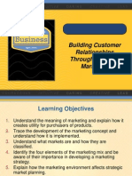 Building Customer RelationshipsThrough Effective Marketing