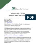 MSOM 303.001 Sp '14 Syllabus(1)