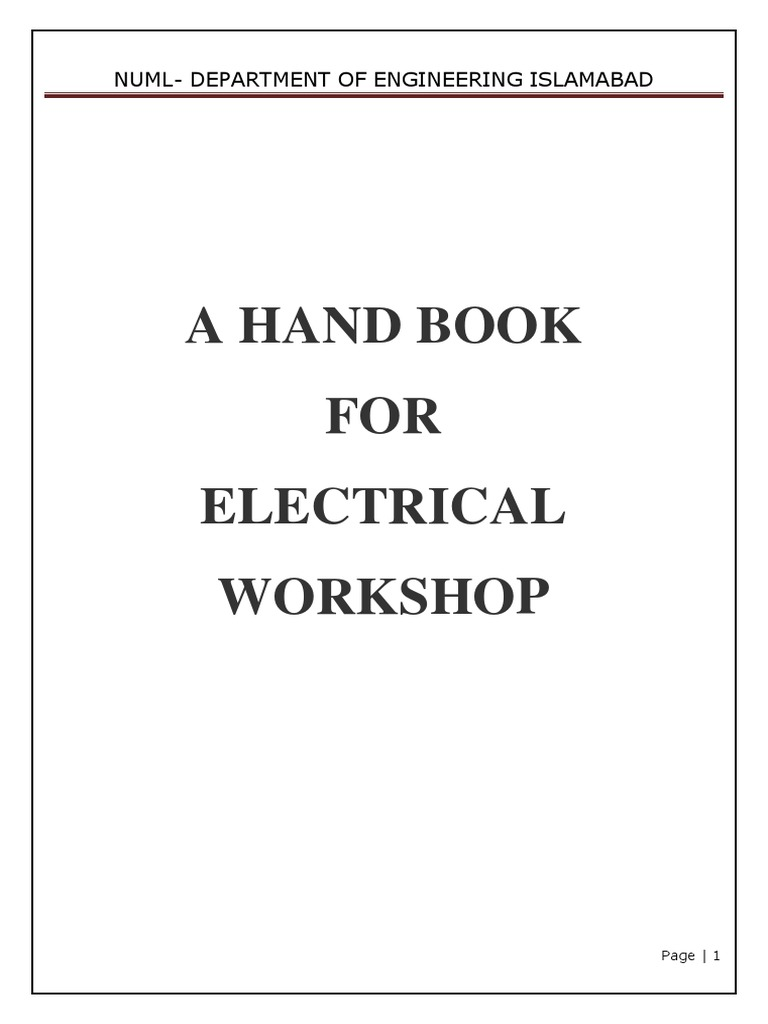 workshop practice lab mannual fuse electrical electrical