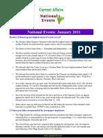Current Affairs for IAS Exam 2011 National Events January 2011 Www.upscportal.com