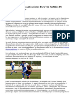 Las Mejores Aplicaciones Para Ver Partidos De Fútbol Sin costo.