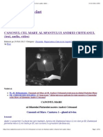 Canonul Cel Mare Al Sfantului Andrei Criteanul (Text, Audio, Video) -.Ps