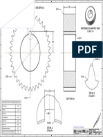 Spur Gear CAD drawing