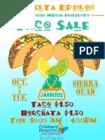 taco sale flyer