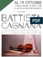Mostra del pittore realista Battista Cagnana,  nato a Trescore Cremasco (CR)