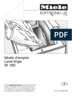 MIELE W 180 Notice Mode Emploi Guide Manuel PDF