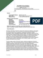 UT Dallas Syllabus for ba4328.001.09f taught by Zhiqiang Zheng (zxz062000)