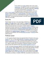 Wiki - Rajnath Singh - BJP President