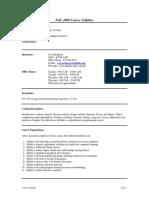 UT Dallas Syllabus for cs1335.001.09f taught by George Steinhorst (csteinh)