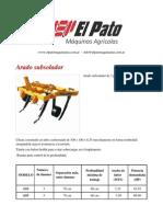 Arado subsolador - El Pato Maquinarias.pdf