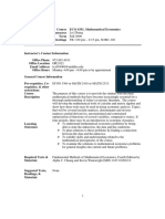 UT Dallas Syllabus for econ4351.001.09f taught by Lei Zhang (lxz054000)