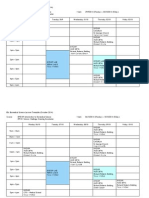BSc Biomedical Science Lecture Timetable (October 2014)