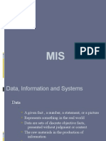 Data, Information and Systems