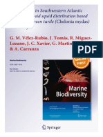 New insights in Southwestern Atlantic Ocean Oegopsid squid distribution based on juvenile green turtle ( Chelonia mydas ) diet analysis