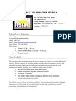 UT Dallas Syllabus for gst2300.001.09f taught by   (jmw087000)