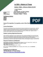 UT Dallas Syllabus for hist2301.501.09f taught by Keith Volanto (kjv062000)