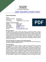 UT Dallas Syllabus for ims5200.0g1.09f taught by Habte Woldu (wolduh)