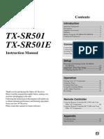 TX-sr501 Manual e