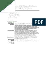 UT Dallas Syllabus for mis6204.555.09f taught by Hans-joachim Adler (hxa026000)