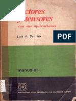 L. Santaló - Vectores y Tensores con sus Aplicaciones.pdf