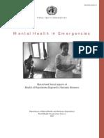 Mental Health in Emergencies