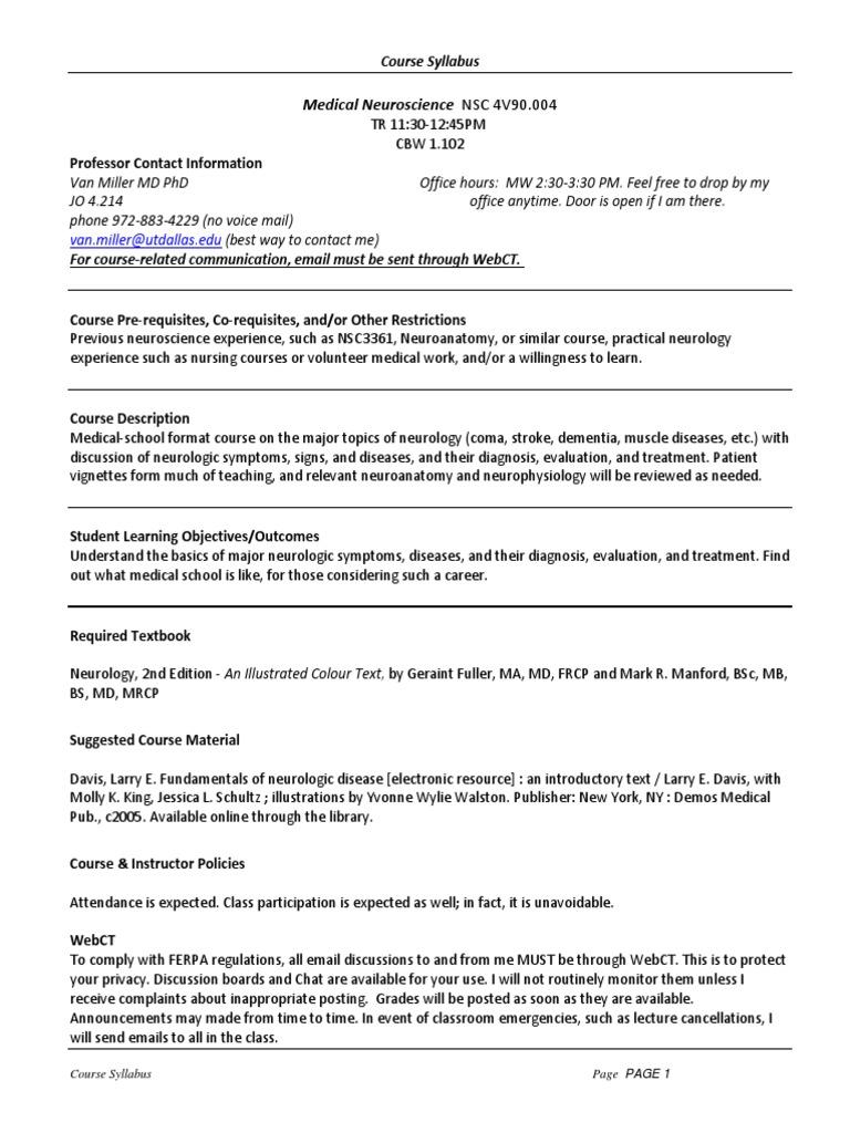 ferpa form utd  UT Dallas Syllabus for nsc12v12.12.12f taught by Van Miller ...