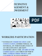 PARTICIPATIVE MANAGEMENT & EMPOWERMENT