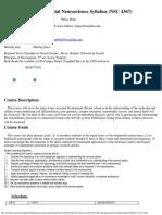 UT Dallas Syllabus for nsc4367.001.09f taught by Michael Kilgard (kilgard)