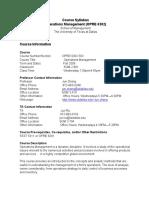 UT Dallas Syllabus for opre6302.503.09f taught by Jun Zhang (jxz063000)